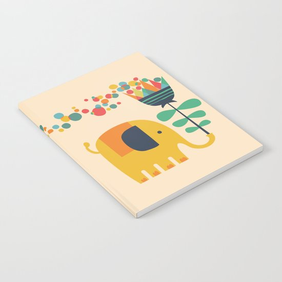 Elephant with giant flower Notebook