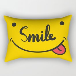 Playful Smile Typography llustration Rectangular Pillow