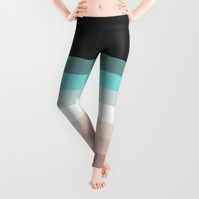 Charcoal, blue and pink pastel blend Leggings