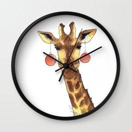 Girafe de Noël Wall Clock