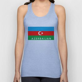 Azerbaijan country flag name text Unisex Tank Top