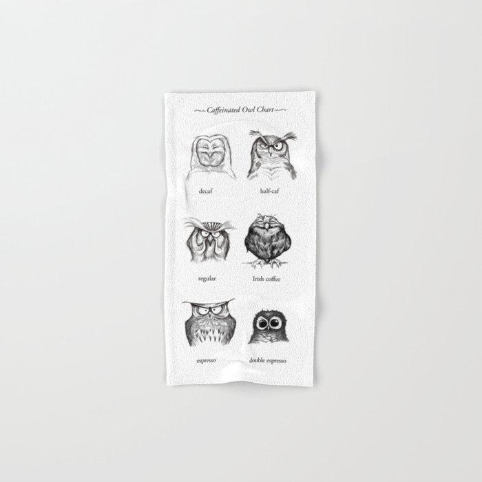 Caffeinated Owls Hand & Bath Towel by davemott