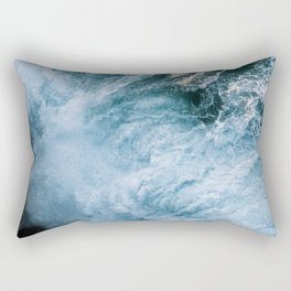 Wave in Ireland during sunset - Oceanscape Rectangular Pillow