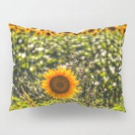 The Lonesome Sunflower Pillow Sham