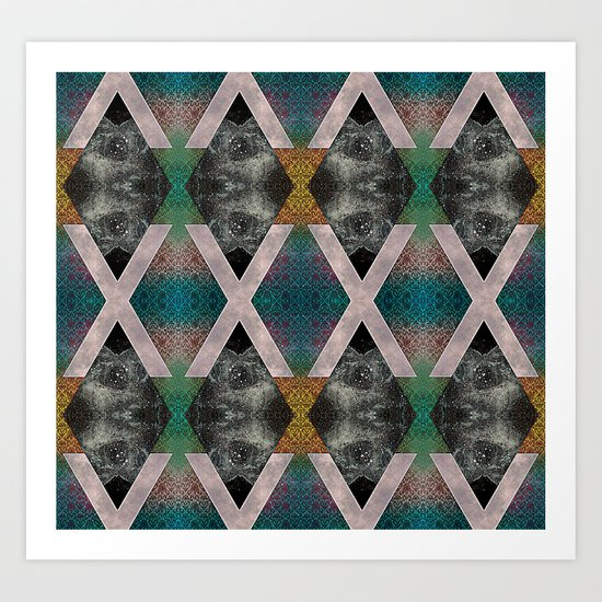 Trippin' on a mountain and falling into space Art Print
