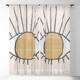 Bohemian Eye Sheer Curtain