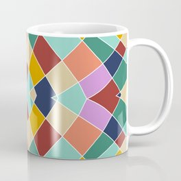 Retro Colored Church Window Pattern Coffee Mug