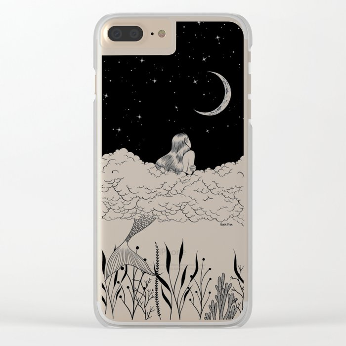 Moon River Clear iPhone Case