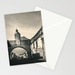 Antique buildings in Antigua, Guatemala Stationery Cards