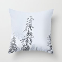 Snowy Snoqualmie Pass Throw Pillow