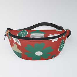Fresh botany with cute birds Fanny Pack