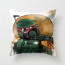Fett Throw Pillow