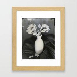 Tulip Bloom Tintype Framed Art Print