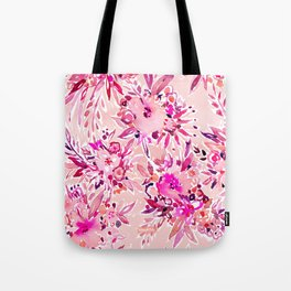 GIMME THAT Pink Wild Floral Tote Bag