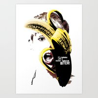miley cyrus Art Prints featuring Miley Cyrus  by franziskooo