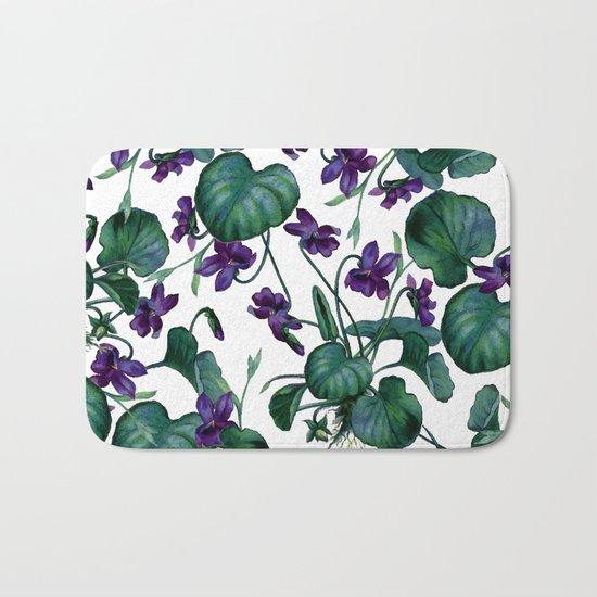 Violets #society6 #decor #buyart Bath Mat