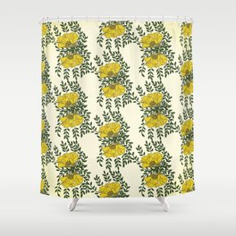 Kowhai Flowers Pattern Shower Curtain