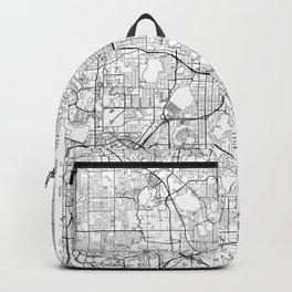 Orlando Map White Backpack