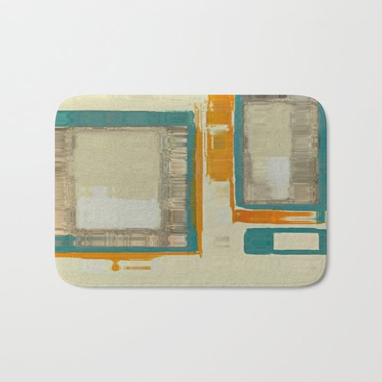 Mid Century Modern Blurred Abstract Bath Mat