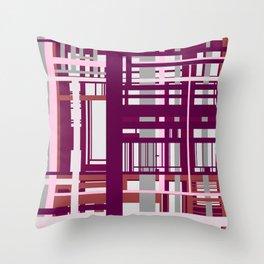 Built Through Lines Throw Pillow