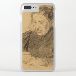 ANKER, ALBERT (1831 Ins 1910) Woman seated at a table drinking coffee Clear iPhone Case