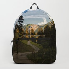 through the woods and over the mountains Backpack