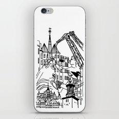Three City Silhouettes iPhone & iPod Skin