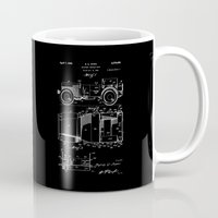 jeep Mugs featuring Jeep: Byron Q. Jones Original Jeep Patent - White on Black by Elegant Chaos Gallery