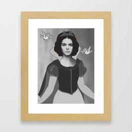 Kendall White Framed Art Print