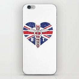 UK Radiology Tech Union Jack Flag iPhone Skin
