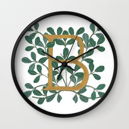 Letter B Forest Lite 2020 Wall Clock