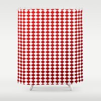 card Shower Curtains featuring Card Game by ArtSchool