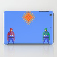 luigi iPad Cases featuring Mario vs Luigi by BryanM