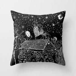 Not now, Creepy Creatures! Throw Pillow