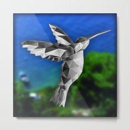 Polygon Kolibri Beige Metal Print