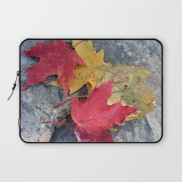 Red and Gold Leaves Laptop Sleeve