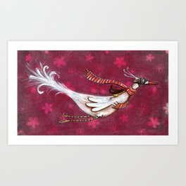 fly me to the moon... Art Print