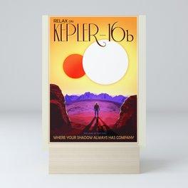 Kepler-16b - NASA Space Travel Poster (Alt) Mini Art Print