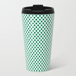 Jelly Bean Green Polka Dots Travel Mug