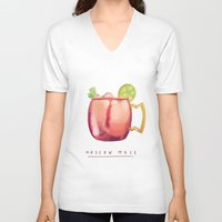 moscow V-neck T-shirts featuring Moscow Mule by Nan Lawson
