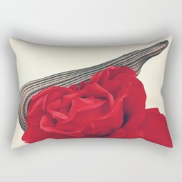 She's a Lady - Surreal Rose Portrait with Sexy Legs Rectangular Pillow