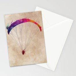 paraglider sport art #paraglider Stationery Cards