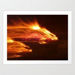 fire dragon Art Print
