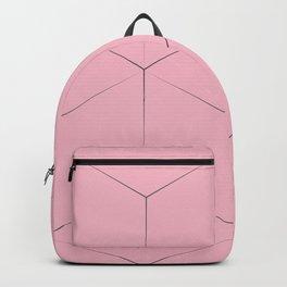 Blocks on pink background Backpack