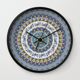 French Bulldog Yoga Medallion Wall Clock