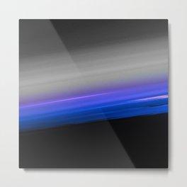 Blue Purple Grey Black Ombre Metal Print