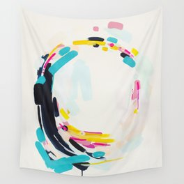 Yesterday to Tomorrow - abstract painting by Jen Sievers Wall Tapestry