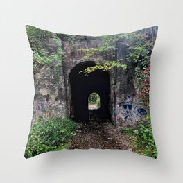 The Screaming Tunnel Throw Pillow