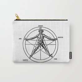Three books of occult philosophy - man inscribed in a pentagram Carry-All Pouch