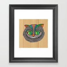 Alice´s Cat Wood Framed Art Print